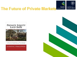 The Future of Private Markets