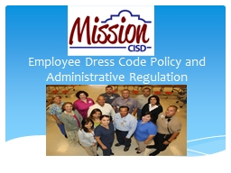Employee Dress Code Policy and PowerPoint PPT Presentation