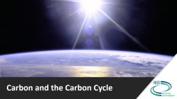 Carbon and the Carbon Cycle