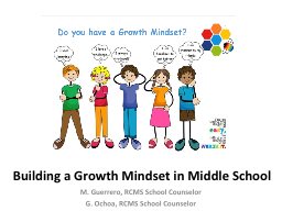 Building a Growth Mindset in Middle School