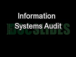 Information Systems Audit