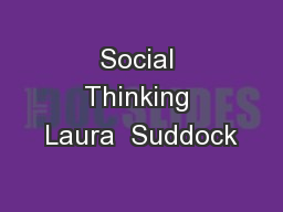Social Thinking Laura  Suddock