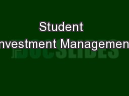 Student  Investment Management