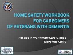 Home Safety Workbook  for Caregivers