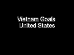 Vietnam Goals United States