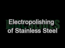 Electropolishing of Stainless Steel