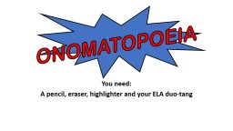 You need: A pencil, eraser, highlighter and your ELA duo-tang PowerPoint PPT Presentation