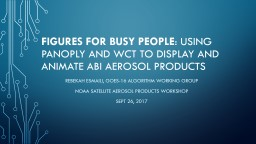 Figures for Busy People : Using Panoply to display and animate ABI Aerosol products