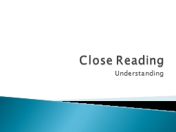 Close Reading Understanding