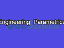 Engineering  Parametrics