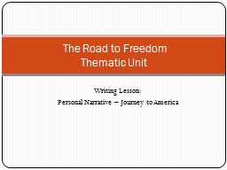 Writing Lesson: Personal Narrative � Journey to America