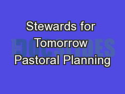 Stewards for Tomorrow Pastoral Planning