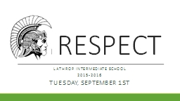 RESPECT Lathrop Intermediate School PowerPoint PPT Presentation