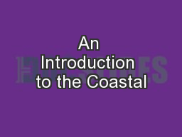 An Introduction to the Coastal