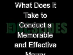 Approaching a Workshop: What Does it Take to Conduct a Memorable and Effective Maury Project Worksh