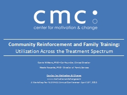 Community Reinforcement and Family Training: