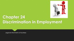 Chapter 24  Discrimination in Employment
