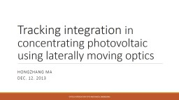 Tracking integration  in