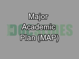 Major Academic Plan (MAP)