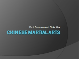 Chinese Martial Arts Zach