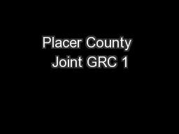 Placer County Joint GRC 1