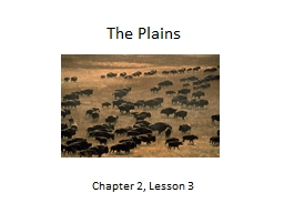 The Plains Chapter 2, Lesson 3