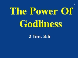 The Power Of Godliness 2
