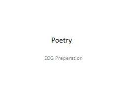 Poetry	 EOG  Preperation