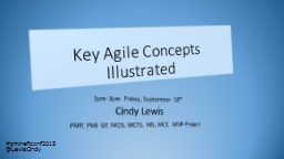 Key Agile Concepts Illustrated