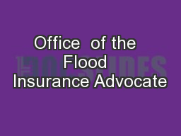 Office  of the  Flood  Insurance Advocate