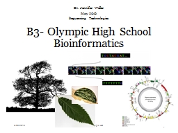 B3- Olympic High School Bioinformatics