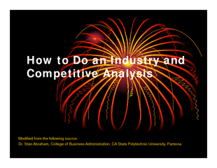 How to Do an Industry and Competitive Analysis Modifie