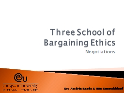 Three School of Bargaining Ethics