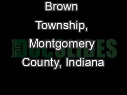 Brown Township, Montgomery County, Indiana