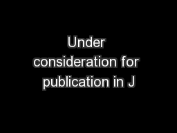 Under consideration for publication in J