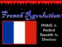 French Revolution: PHASE 3: Radical Republic to Directory