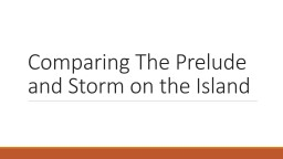 Comparing The Prelude and Storm on the Island
