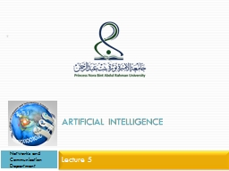 Artificial Intelligence Lecture 5