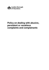 Policy on dealing with abusive persistent or vexatious