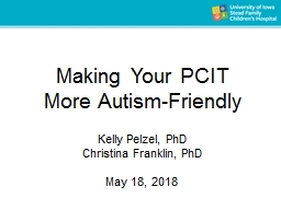 Making Your PCIT  More  Autism-Friendly