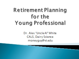 Retirement Planning  for the