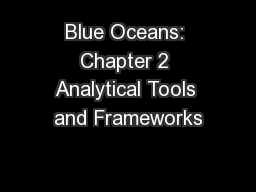 Blue Oceans: Chapter 2 Analytical Tools and Frameworks