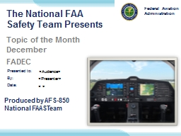 The National FAA Safety Team Presents