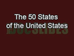 The 50 States of the United States