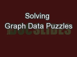 Solving Graph Data Puzzles