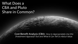 What Does a CBA and Pluto