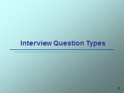 1 Interview Question Types