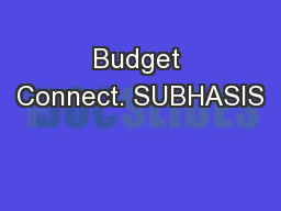 Budget Connect. SUBHASIS