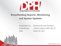 Breastfeeding Reports, Monitoring