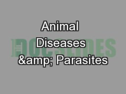 Animal  Diseases & Parasites